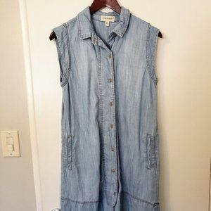 Cloth and Stone chambray light blue tank dress S